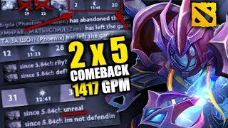 [Must-see] Epic Comeback: three leavers. Record 1417 GPM on Arc Warden!
