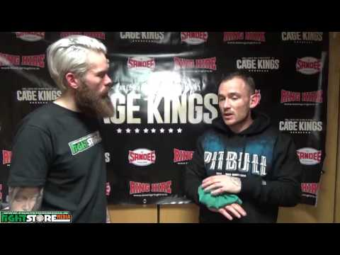 Wayne Grant post fight interview at Cage Kings Dublin