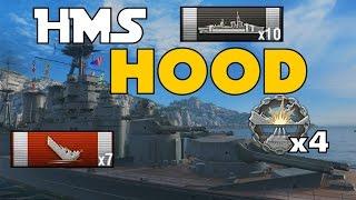 NEW HMS Hood - 7 Kills - 167K DMG - World of Warships