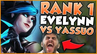 RANK 1 EVELYNN FACES OFF AGAINST YASSUO AND CHASESHACO! (CAN HE 1v5?!) - League of Legends