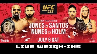 UFC 239 Official Weigh-Ins: Jon Jones, Amanda Nunes, Ben Askren, Holly Holm, Jorge Masvidal