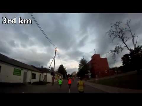 """Jelgavas Nakts Pusmaratons 2015"" 11 km Race in Latvia [GoPro HD Hero]"