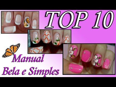Top 10 Unhas Decoradas 2014 Manual Bela e Simples Nail Art