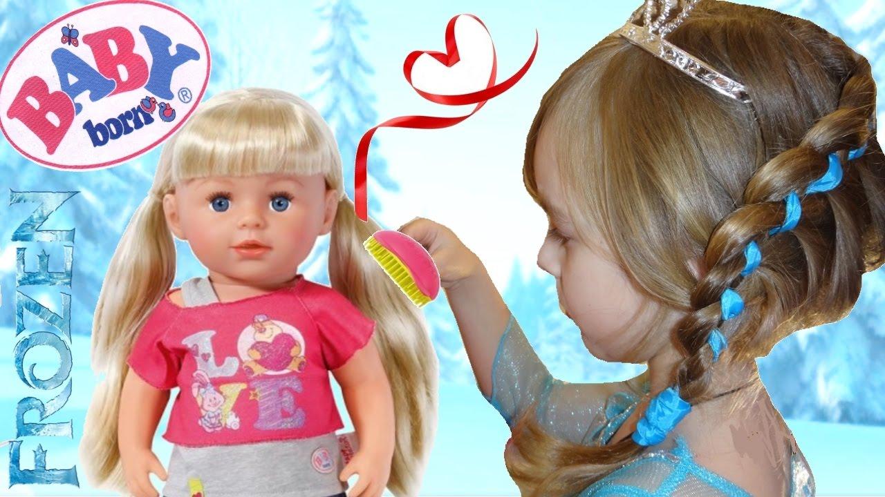 Как сделать причёску кукле как у эльзы
