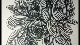 Pursuit Curve Circle and Oval (Doodle, Zentangle, Pursuit Curve, ASMR, Youtube)