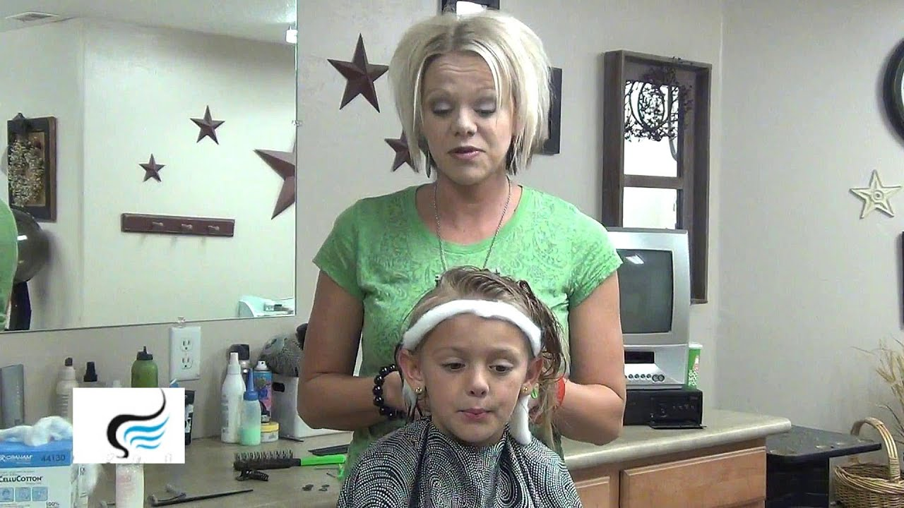 How to Do A Perm on a Girls Hairstyle - YouTube