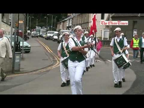 The Green Marching Band from Naestved Denmark visits Oban - July 2009