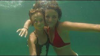 Carla Underwater - swimming underwater with my sister