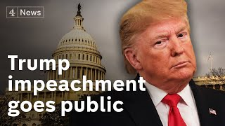 Trump impeachment inquiry: First public hearings begin