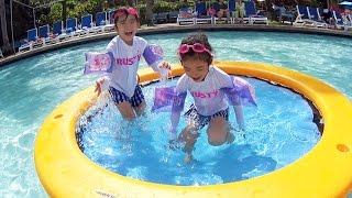 Kan & Aki played at the PIC Waterpark ♪