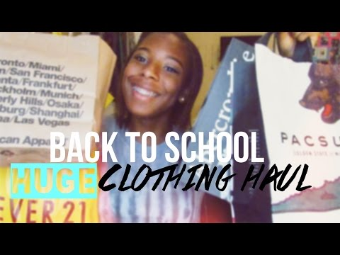 Back-to-School Series: HUGE Clothing Haul 2014 \ \ Brandy Melville, Forever21,TopShop & more!!