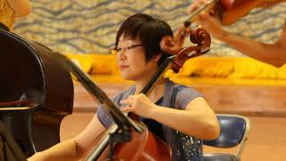 特別支援学校で琉球交響楽団演奏