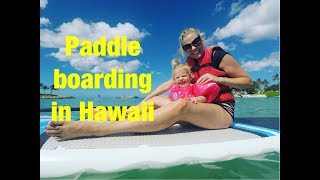 QUADRUPLETS PADDLE BOARDING ON OUR LAST DAY AT AULANI HAWAII