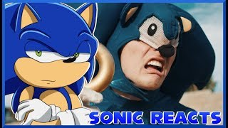 WHAT WAS THAT!?😲 Sonic Reacts The Sonic The Hedgehog Trailer... but better