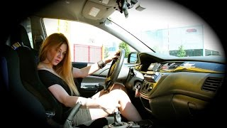 Fast Driving Girls - Bonnie - Mitsubishi Lancer EVO Racing in High Heels (V043)