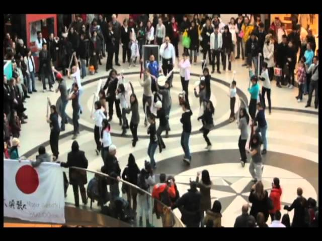 [Flash mob] Kibou no Mai (Dance of Hope) for Japan in Toronto