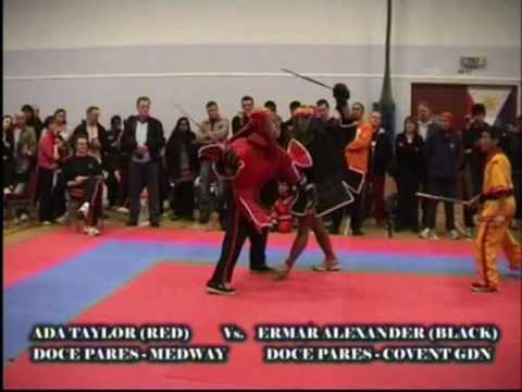 Doce Pares British Championships 2009 Ada Taylor vs. Emar Alexander - single stick Image 1
