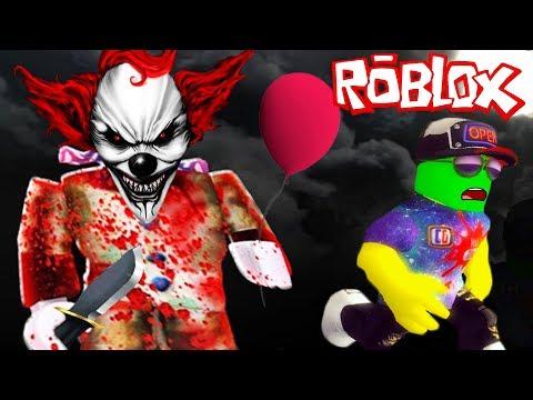 СТРАШНЫЙ КЛОУН ОНО в РОБЛОКС! СПАСАЙТЕСЬ КТО МОЖЕТ! Приключение мульт героя Roblox от Cool GAMES