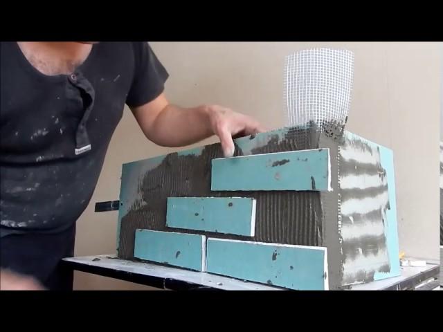 Как сделать кирпичи из гипсокартона 402
