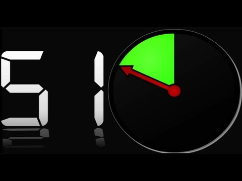 60 sec countdown clock ( v 14 ) timer with Sound + 10 sec beep - dramatic atmosphere  █▬█ █ ▀█▀