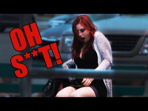 Girl Poops Herself in Public Prank