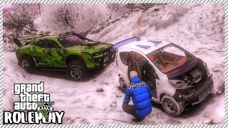 GTA 5 Roleplay - Rescuing Friend From Snow Blizzard   RedlineRP #103