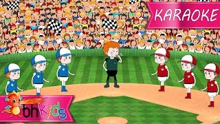 Take Me Out To The Ball Game | Nursery Rhymes TV [Karaoke 4K]