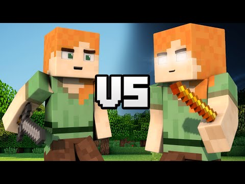 Alex VS Herobrine Alex - Minecraft