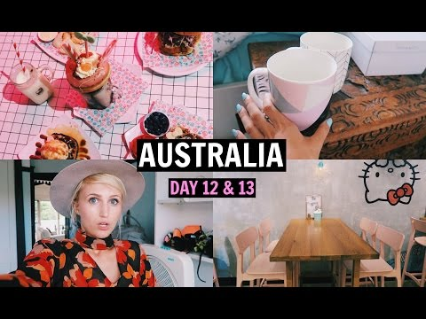 Hello Kitty Diner & Shopping Haul! | AUSTRALIA DAY 12 & 13