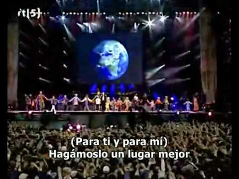 Michael Jackson - Heal the world Live Munich (Subtitulado espa...