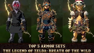 The Legend of Zelda: Breath of the Wild - Top 5 Armor Sets & How to Get Them! | RasouliPlays