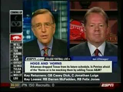 Bobby Petrino on College Football Live 7-22-08 Video