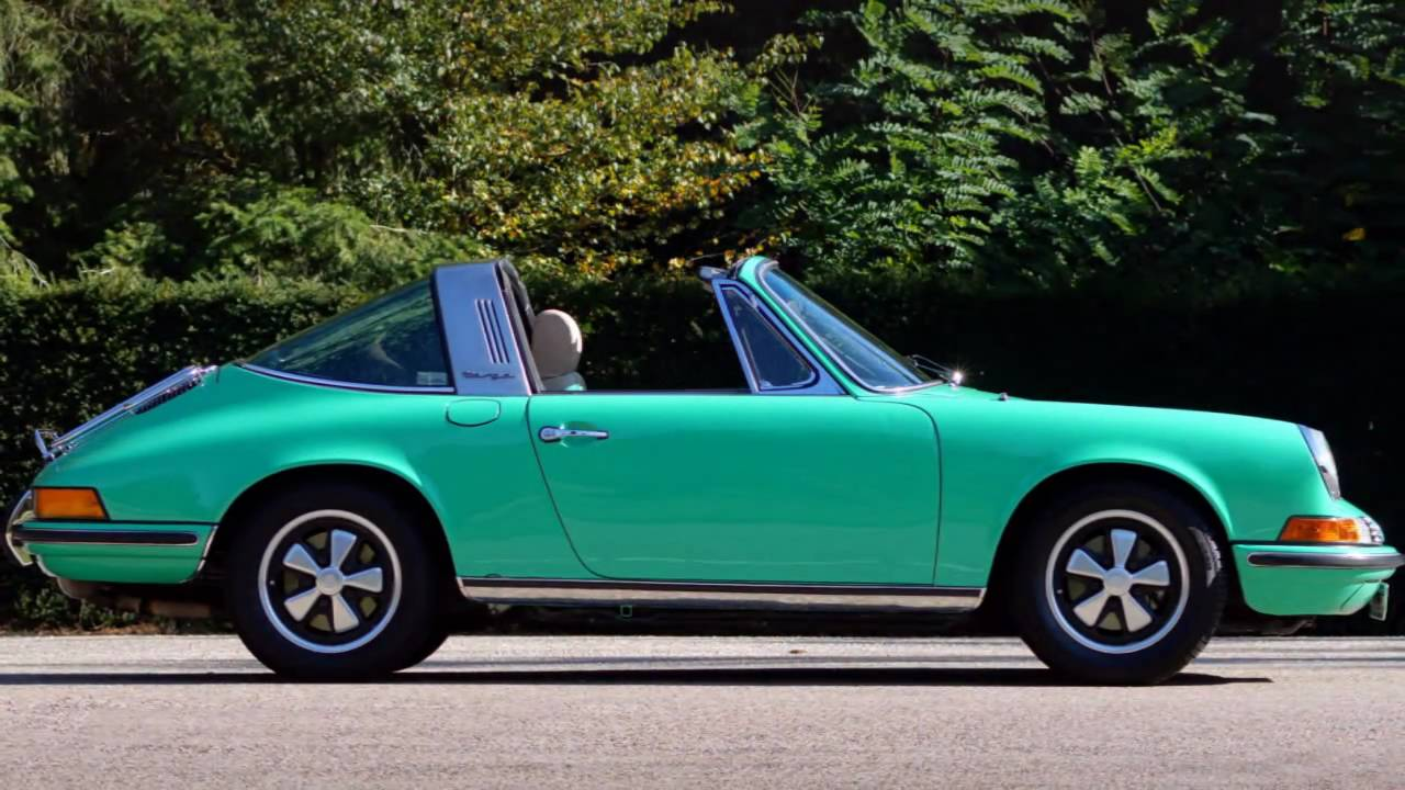 1972 Porsche 911 2 4 S Targa Hd Photo Video With Stereo Engine Sounds Youtube