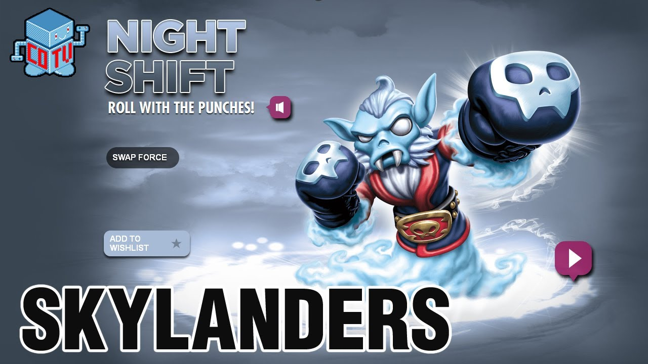 Skylanders Swap Force Night Shift Combinations Youtube