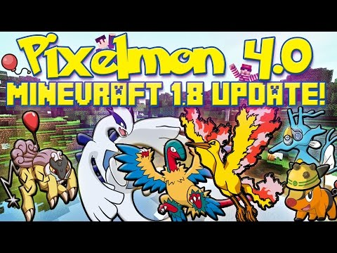 Pixelmon 4.0 Update Review!   Now in Minecraft 1.8   Rocket Helmet. Air Balloon. & More!