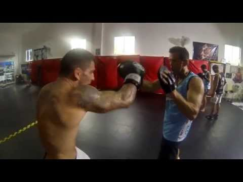 Boxing for MMA coach Steve Petramale at Phuket Top Team MMA Training Camp Image 1