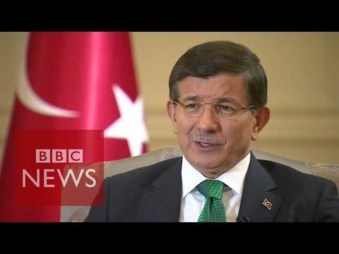 Turkey PM Davutoglu: 'Turkey is a victim of the Syrian crisis'  - BBC News