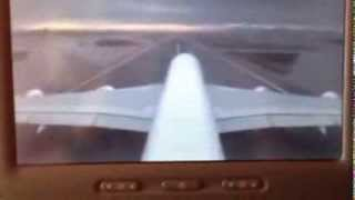 FIRST FLIGHT!! Emirates Airbus A380 Barcelona-Dubai TAKE OFF 1/2/2014