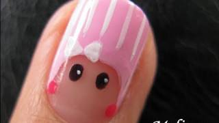 Nail Art Tutorial - Beanie Baby Peek-A-Boo Finger Army 2.0  Design mini nicki minaj