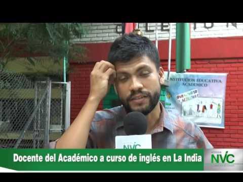 Docente del Académico a curso de inglés en La India