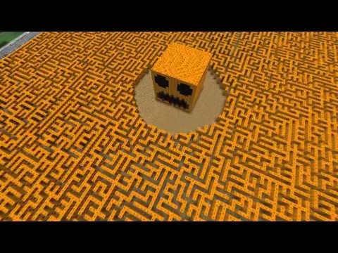 Watch The Giant Minecraft Pumpkin Maze!