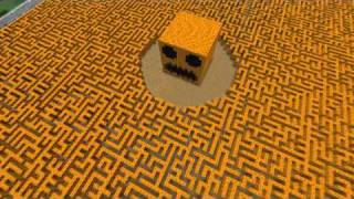 The Giant Minecraft Pumpkin Maze!