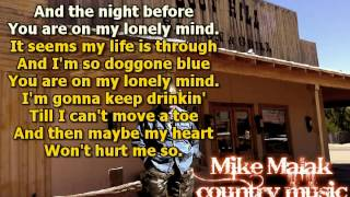 Mike Malak & The Fakers - There's A Tear In My Beer (Hank Williams Sr, cover song, lyrics)