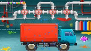 Truck factory _ Cartoon cars for kid _ Video cartoon for children