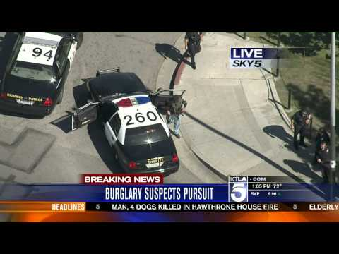 Burglary Suspects, High Speed Chase South LA Part 2
