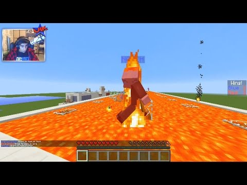 Minecraft 3v3 LAVA RACE #1 with Vikkstar (Minecraft Parkour PVP Race)