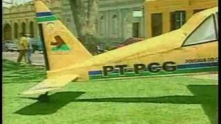 Reportagem sobre o Avião feito com sucata para a Pousada - Izidro Guedes