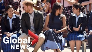 Prince Harry, Meghan Markle visit Australian girls' school to discuss youth empowerment
