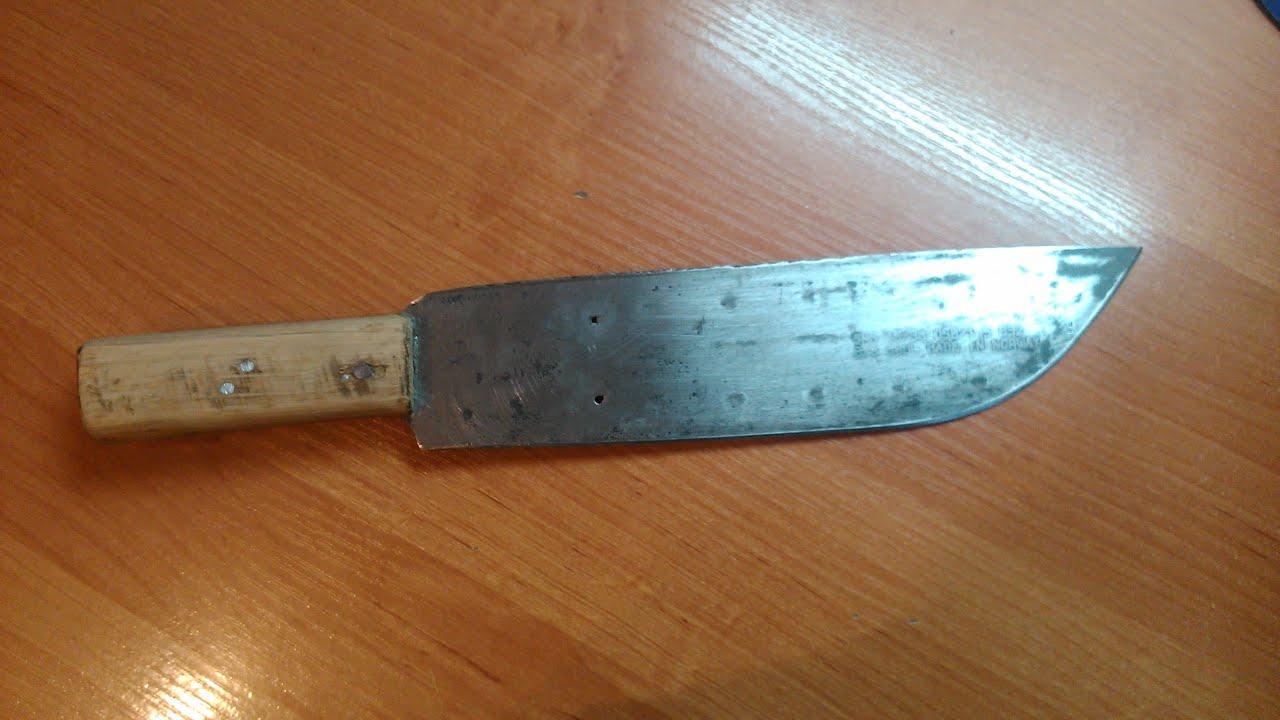 Нож из цепи бензопилы как сделать