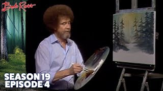 Bob Ross - Snowy Morn (Season 19 Episode 4)